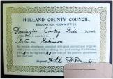 Presentation bookplate - Donington Cowley Girls' School, Holland County Council