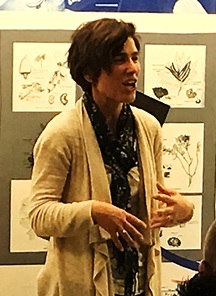 Rachel Bladon, author, at 6 Book Challenge event, Church Street Library, October 2015