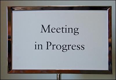 Just how public should a public meeting be?