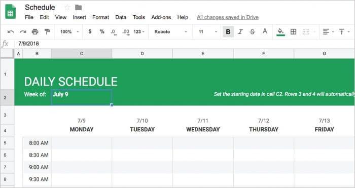 Google Docs Employee Schedule Template Creating A Basic