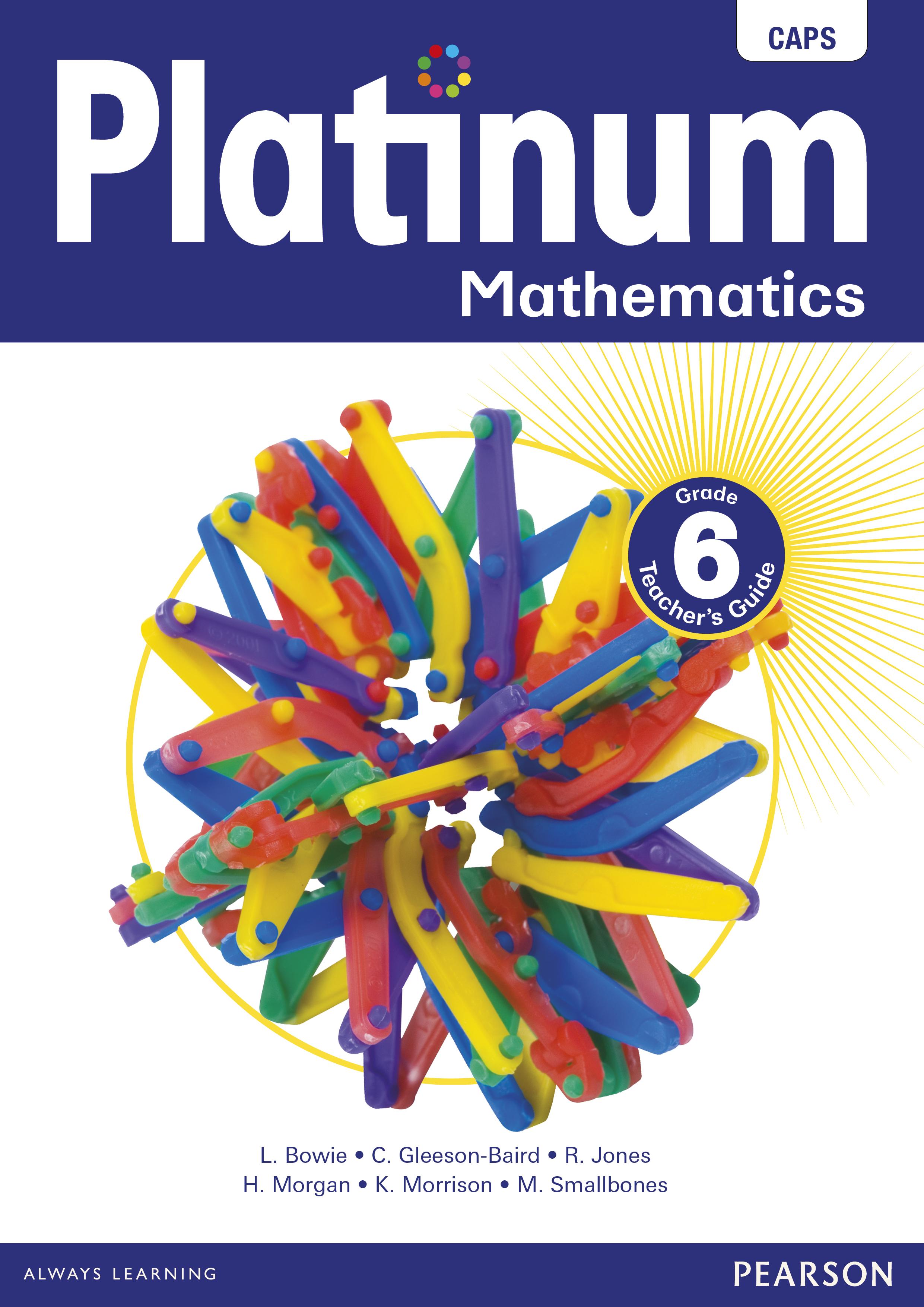 Platinum Mathematics Grade 6 Teacher S Guide E