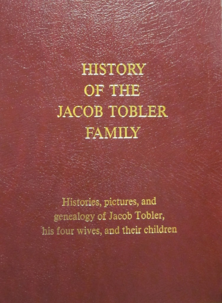 Book History Of The Jacob Tobler Family
