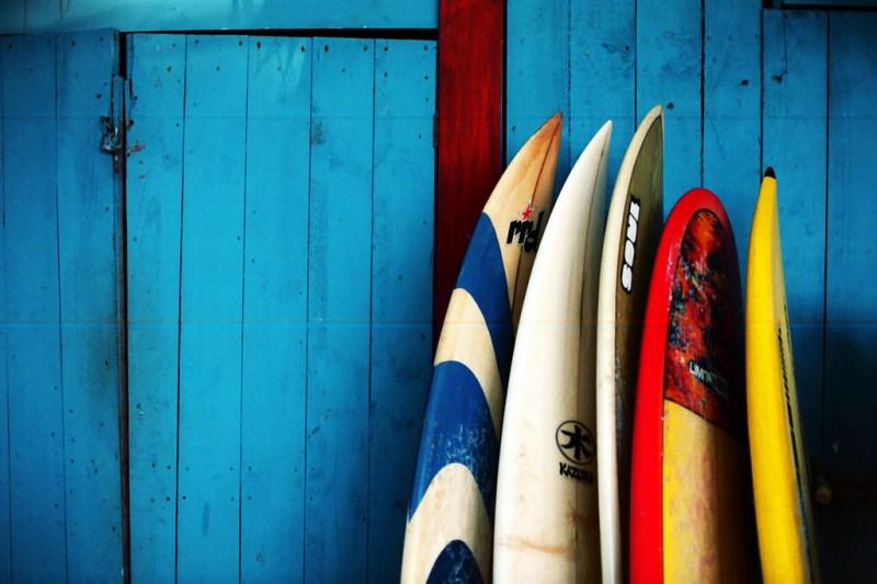 Pranchas coloridas - surf trip