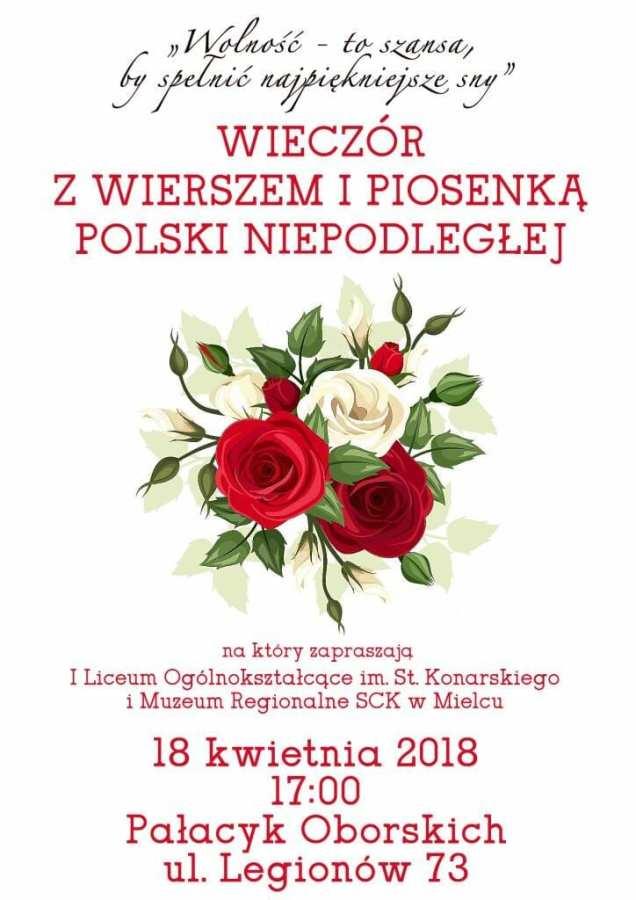 Wieczór z wierszem i piosenką Polski niepodległej