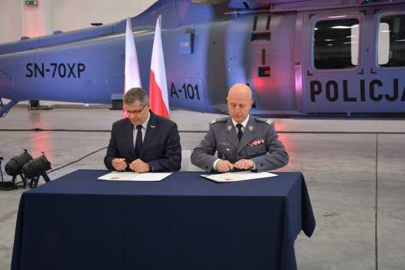 Podpisanie umowy na zakup kolejnego śmigłowca dla polskiej Policji [FOTO, VIDEO]