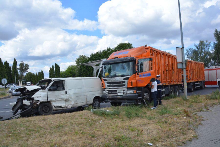 Wypadek w Specjalnej Strefie Ekonomicznej [FOTO]