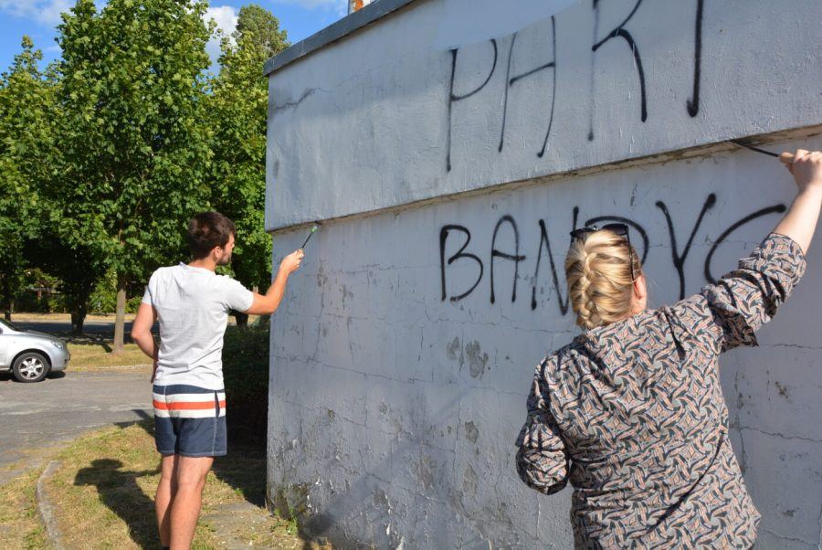 Przy ulicy Szafera powstają nowe murale [FOTO, VIDEO]