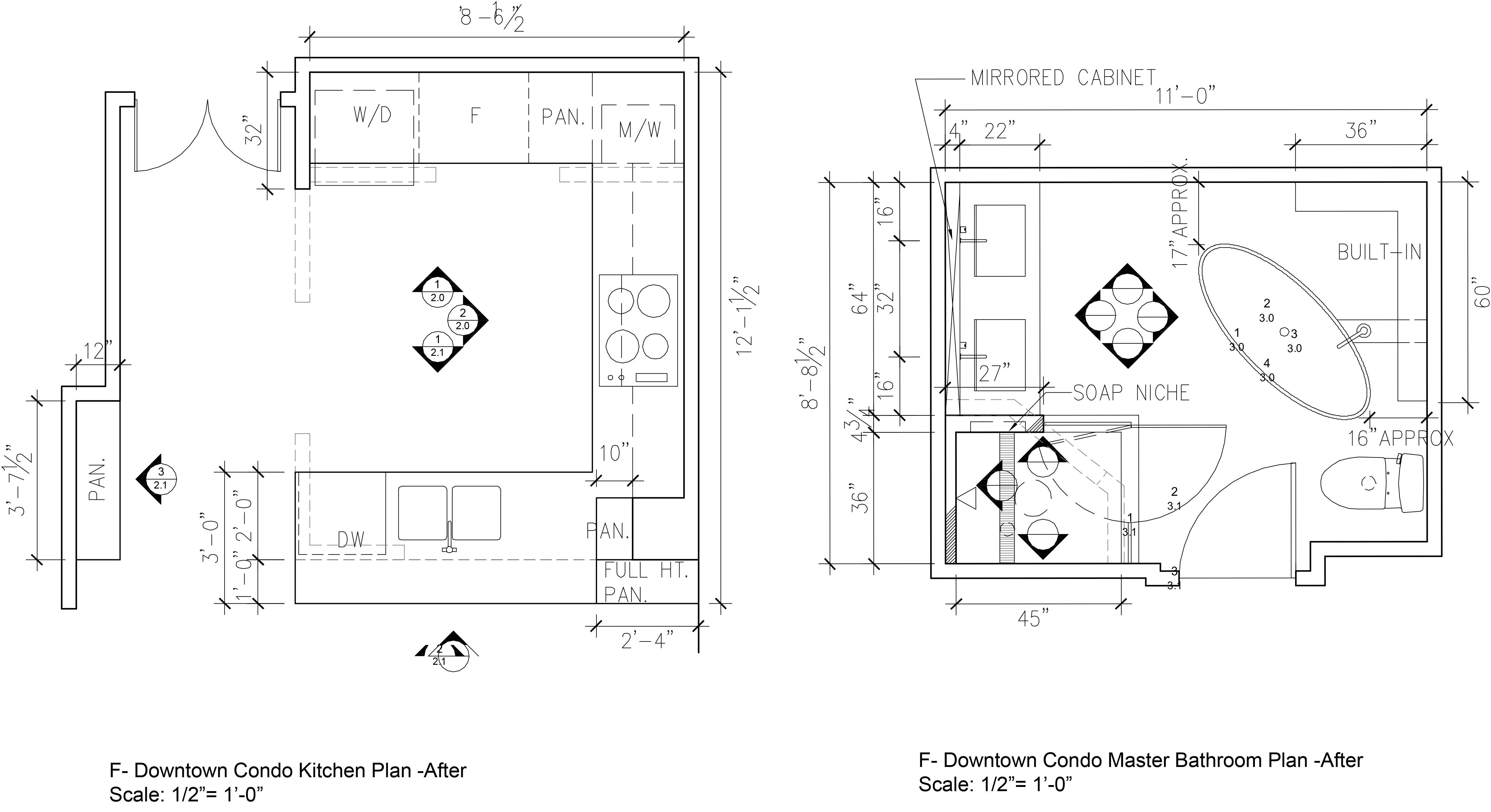 Theatre District Condo Renovation W C Meek Design And