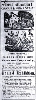 Western Star Advertisement, May 1858