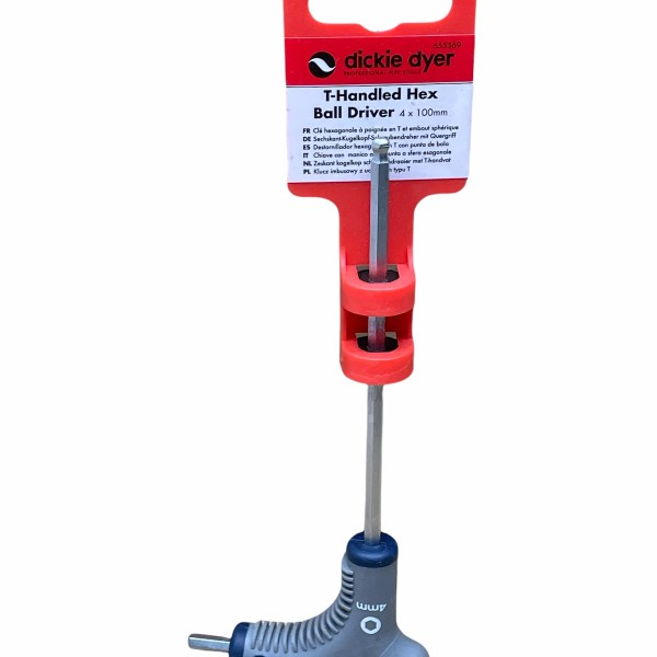 Dickie Dyer T-Handled Hex Ball Driver 4x100mm