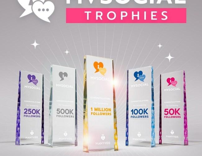 ManyVids MV Social Trophies (Plus Contest / Giveaway)