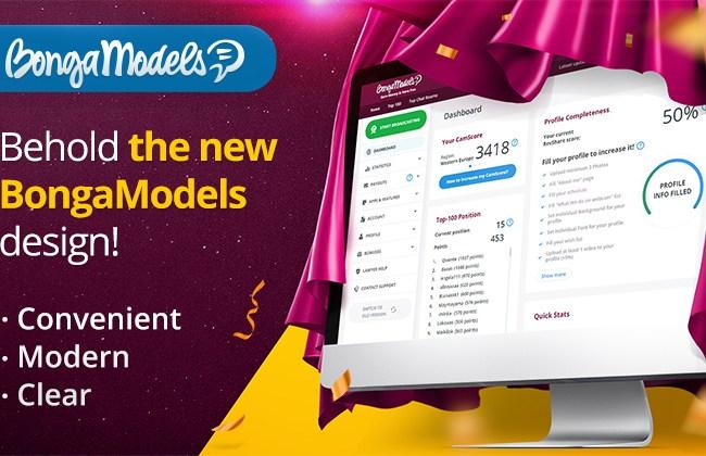 BongaCams: BongaModels Dashboard Redesign