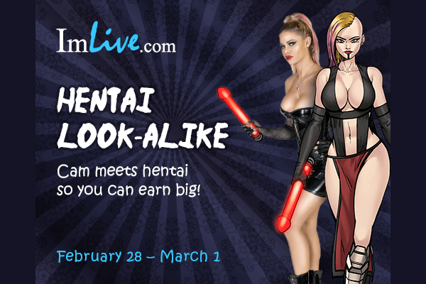 ImLive / GamingAdult Hentai Look-Alike Party: Feb 28 – March 1st, 2020