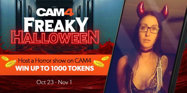 Cam4 Freaky Halloween Show Contest (ends Nov. 1, 2020)