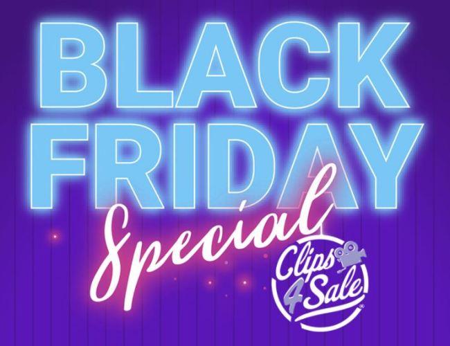 Clips4Sale Black Friday / Cyber Weekend Promotion (Nov. 27-30, 2020)