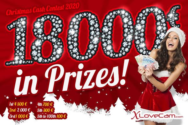 XLoveCam Christmas Cash Contest (Dec. 1-31, 2020)