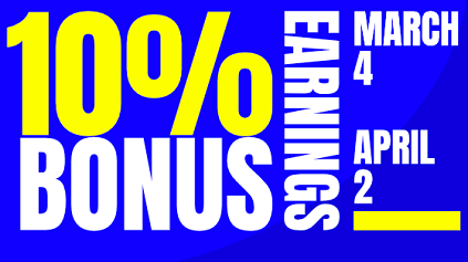 SoulCams 10% earnings bonus (March 4-April 2, 2021)