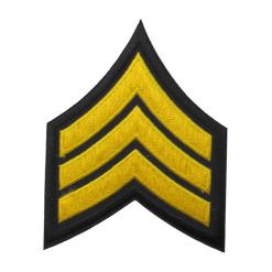 Sergeant Chevron Patch - Gold/Black