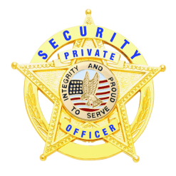 Private Security Officer Gold 5-Star in Circle Badge