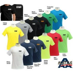 Staff T-Shirt by AAA 100% Cotton
