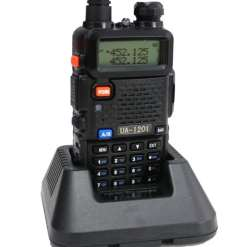 UAW UA1201 VHF UHF Dual Band Compact Two-Way Radio, Black with Extended Battery