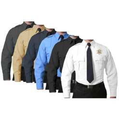 100% Polyester Long-Sleeve Uniform Shirt