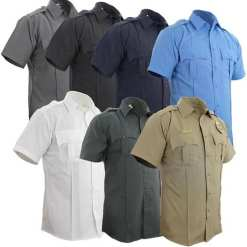 100% Polyester Short Sleeve Uniform Shirt