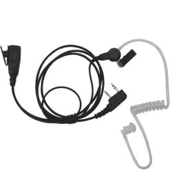 Surveillance Earphone with Lapel Mic for Kenwood & UAW Radios