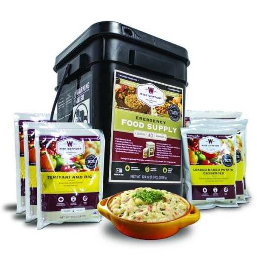 Emergency Entrée Only Grab-and-Go Bucket - 60 Servings