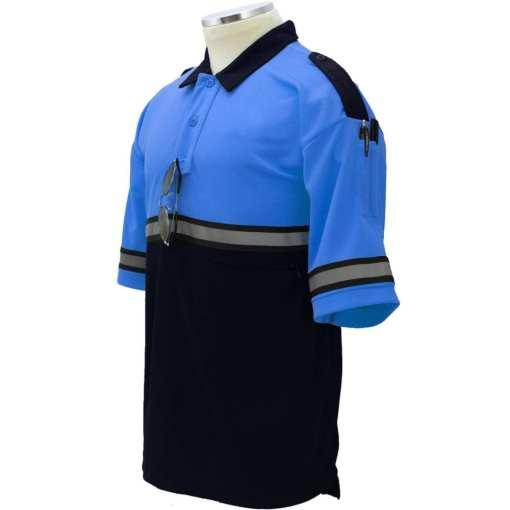 Two-Tone Bike Patrol Shirt with Zipper Pocket Royal Blue/ TT05 Royal Blue with Navy Blue