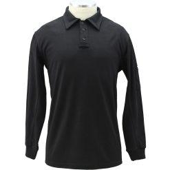 Black Tactical Long Sleeve Polo Shirt