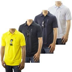 Pro-Dry Polo Shirt with One Pocket 100% Polyester