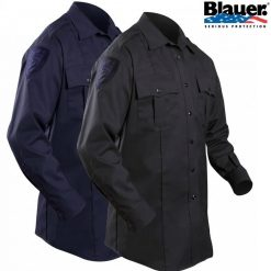 Blauer Long-Sleeve Cotton Blend Shirt 8703