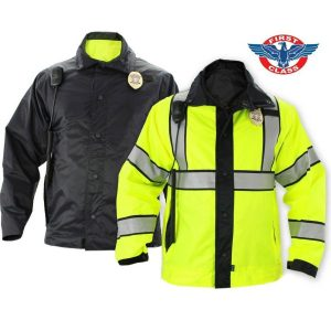 First Class Reversible High-Visibility Raincoat