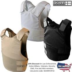 Skarr Armor Kevlar concealable bulletproof vest SKV-01