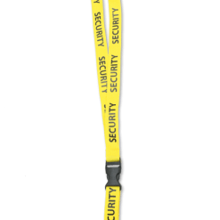 Yellow Security and Event Staff ID Badge Lanyards