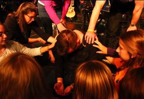 Lot's of prayer ministry.