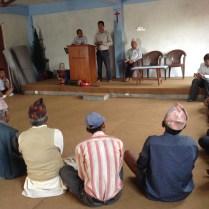 The village elders meet at the Vineyard