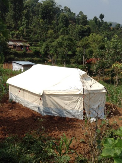 Tents like these are begin used for shelter