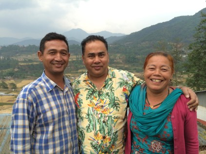 Pastor Uddav, Pastor Ramesh, and Thuli Amma in Chhampi