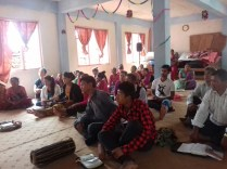 Three hours of class in Gorkha Vineyard!