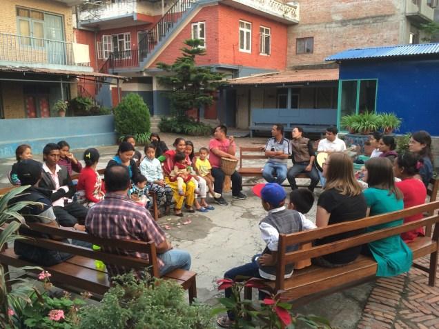 Farewell dinner at Kathmandu Vineyard