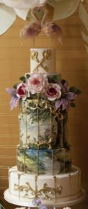 World Class Weddings painted-wedding-cake-127x300 The Art of The Cake
