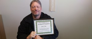 Jerry shares his Commercial Driver's License certificate.