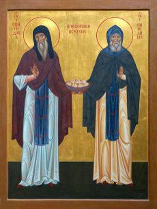 Ikona świętych prosforników Spirydona i Nikodema