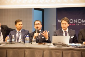 Dr. Jonathan De Giovanni, Partner at WDM International at the Welconomy Forum in Torun, as panelist on the Cathay Associates China Panel