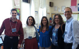 During our visit, we ran into Amber Cordell, a Valley High Graduate, who now teaches at Burley Elementary. From left: Brian Abeling, Annie Orsini, Amber Cordell, Brooke Dey, and Adam Nidey.