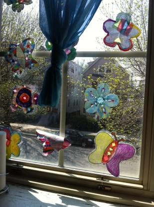 As you can see through these decorated windows, Burley Elementary is a neighborhood school.