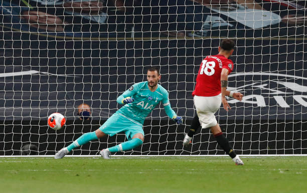 Bruno Fernandes opened the scoring from the spot in Manchester United's 6-1 defeat to Spurs before being substituted at half-time