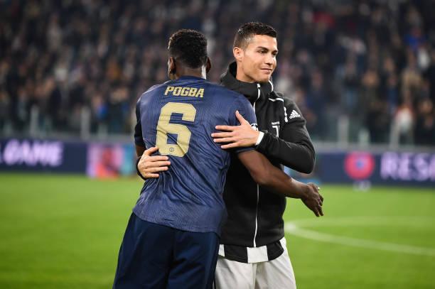 Paul Pogba and Cristiano Ronaldo